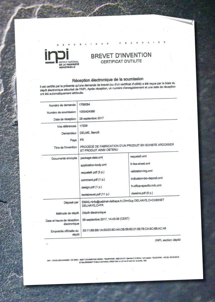 brevet feuille de pierre  FLEXI PIERRE VOLUME innovation