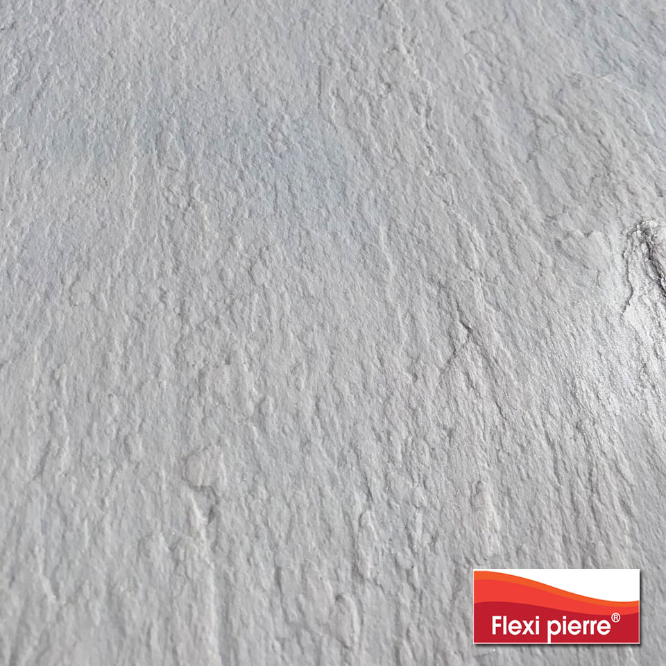 détail de référence Blanc Neptune de feuille de pierre Flexi Pierre