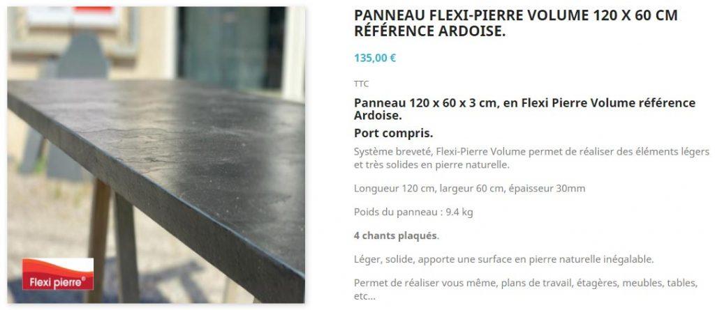 Vente en boutique Flexi Pierre® Volume, des plans de haute qualité fabriqués dans nos ateliers de Dourgne(81) par des artisans tailleurs de pierre.