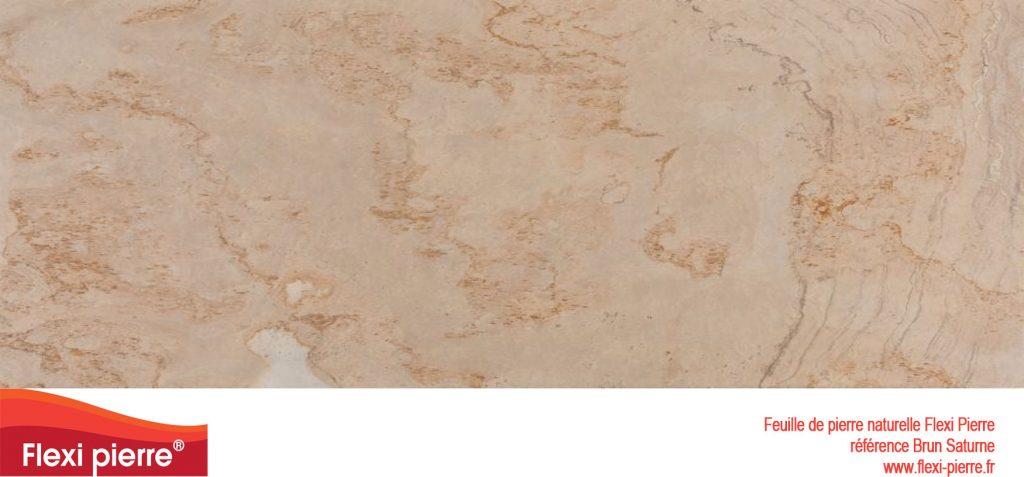 Feuille de pierre naturelle:  Brun saturne, tons pastels et à l'effet proche d'un vieux marbre...