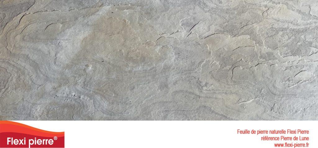 Feuilles de pierre naturelle:  Pierre de Lune, beige à gris, avec des nuances d'ocres