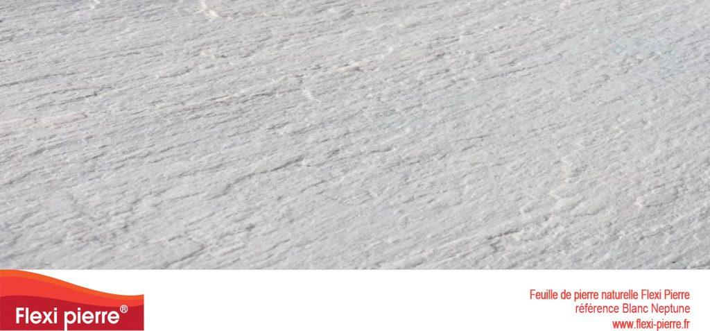 Nouveau: Blanc Neptune feuille de pierre blanche, blanc doux et profond, touché soyeux avec du grain...