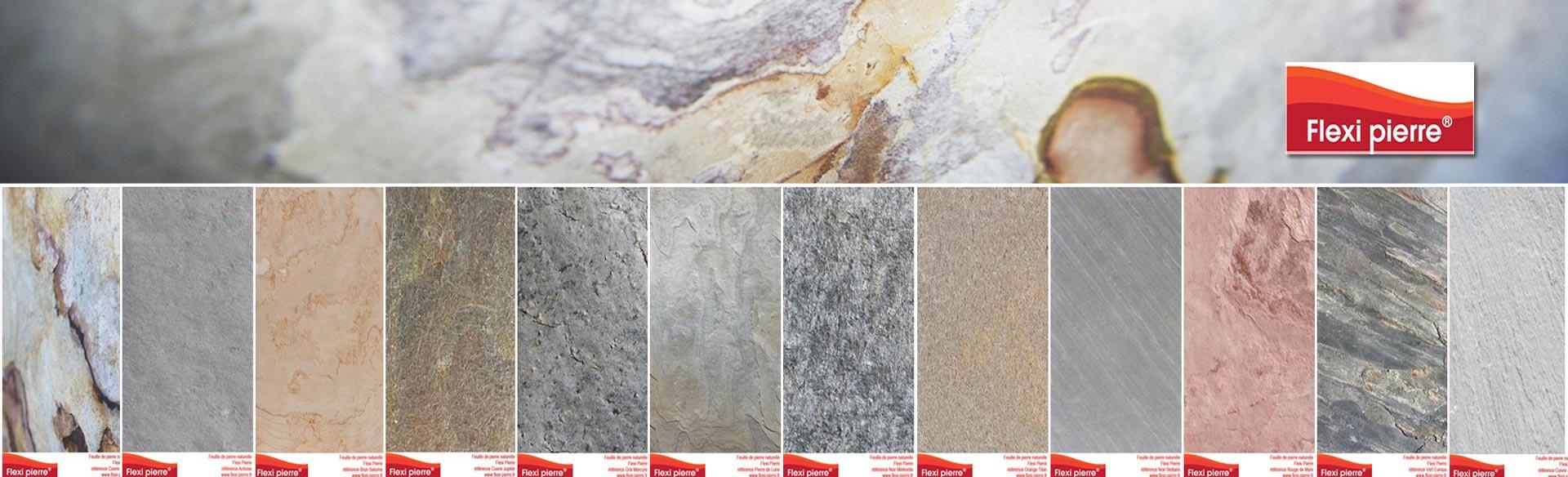 gamme des feuilles de pierre Flexi Pierre