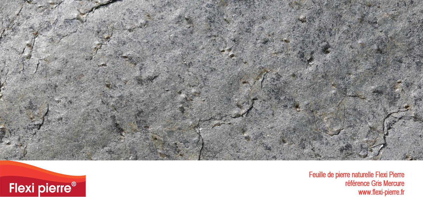 référence Gris Mercure de feuille de pierre Flexi Pierre