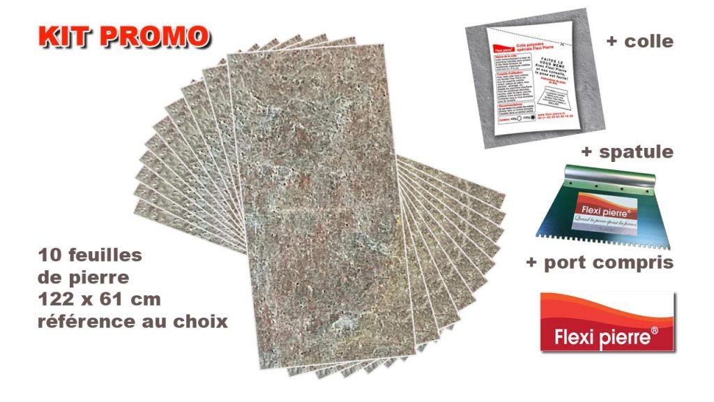 Kit promo feuilles de pierre Flexi Pierre