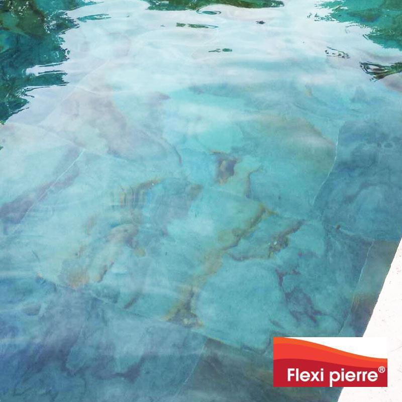 Application en piscine de feuille de pierre