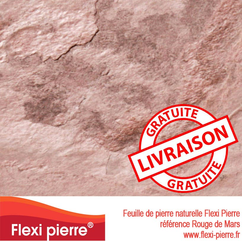 Feuille de piere Rouge de Mars livraison gratuite