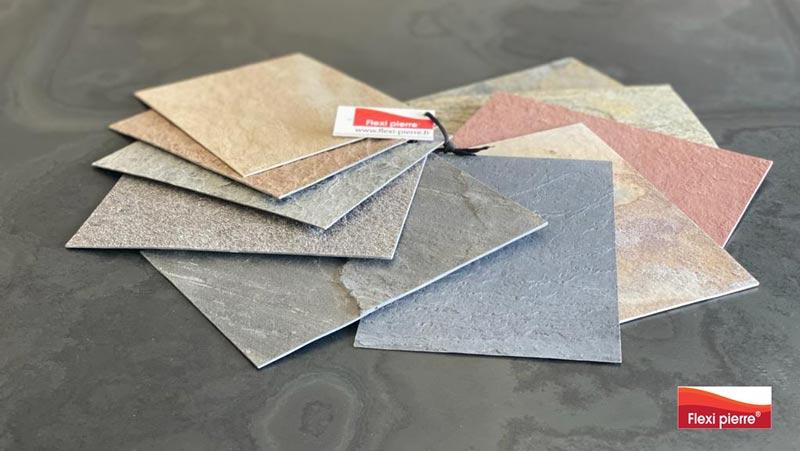 Nuancier des références de feuilles de pierre Flexi Pierre